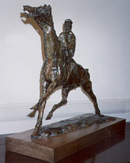 Horse Racing Suite of 3 Bronze Sculptures Sculpture - LeRoy Neiman