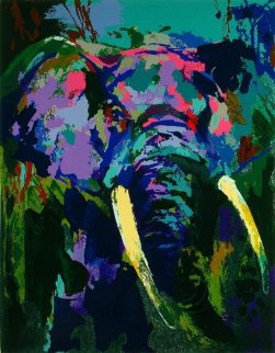 Portrait of an Elephant 2003 Limited Edition Print by LeRoy Neiman
