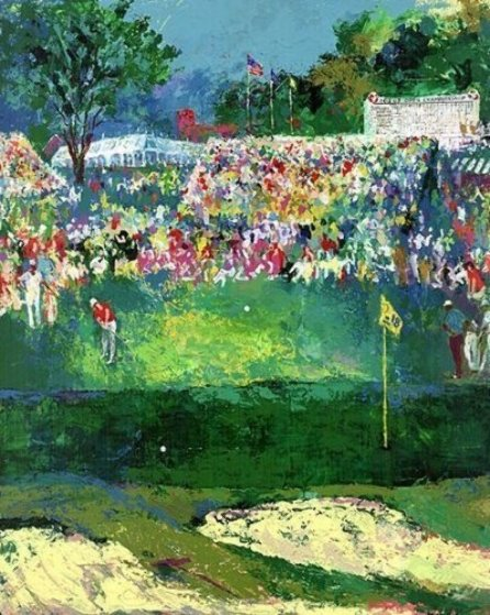 Bethpage Black Course 2002 U.S. Open Limited Edition Print by LeRoy Neiman