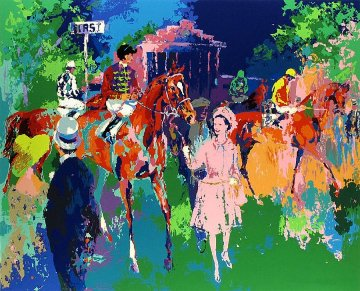 Queen At Ascot 1976 Limited Edition Print - LeRoy Neiman