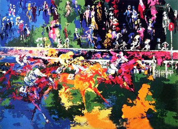 Ascot Finish 1974 Limited Edition Print - LeRoy Neiman