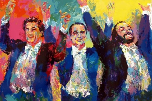 Three Tenors 1996 Limited Edition Print by LeRoy Neiman