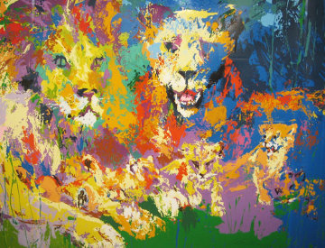 Lion's Pride  1973 Limited Edition Print - LeRoy Neiman