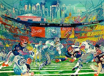 Superbowl XXVIII, Georgia Dome 1994 Limited Edition Print by LeRoy Neiman