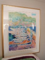 Harbor At Monaco 1988 Limited Edition Print by LeRoy Neiman - 1