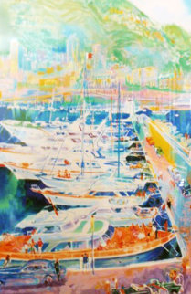 Harbor At Monaco 1988 Limited Edition Print by LeRoy Neiman