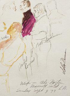 Ali - Norton Boxing Watercolor 1973 23x20 Original Painting - LeRoy Neiman