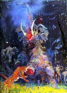 Shikar 1980 (Elephant) Limited Edition Print by LeRoy Neiman
