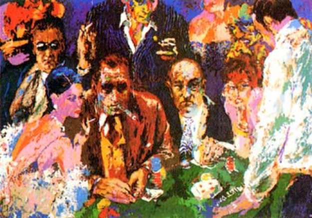 Vegas Blackjack 1976 Limited Edition Print by LeRoy Neiman