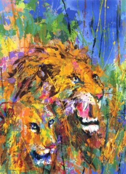 Safari Suite of 3  1997 Limited Edition Print by LeRoy Neiman