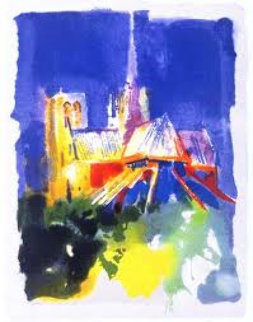 Notre Dame, From The Paris Suite 1994 Limited Edition Print by LeRoy Neiman