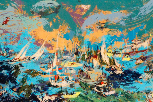 Spectator's Fleet - America's Cup 1978 Limited Edition Print by LeRoy Neiman