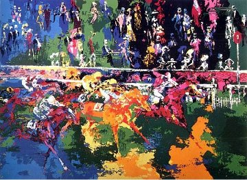 Ascot Finish 1974 Limited Edition Print by LeRoy Neiman