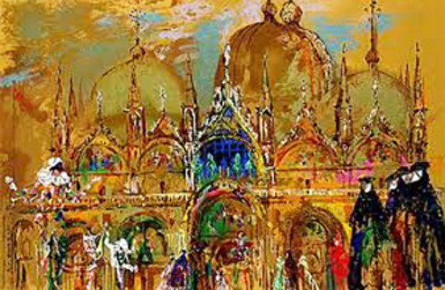St Marks Square, Venice Italy 2013 Limited Edition Print by LeRoy Neiman