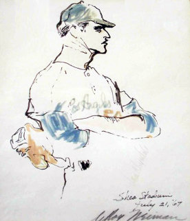 Don Drysdale Watercolors 1967 Watercolor by LeRoy Neiman