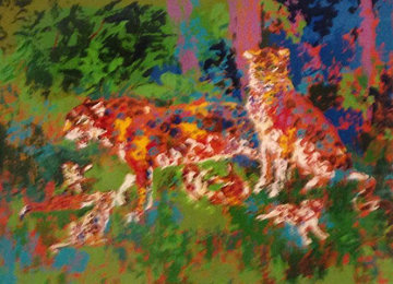 Jaguar Family 1980 Limited Edition Print by LeRoy Neiman