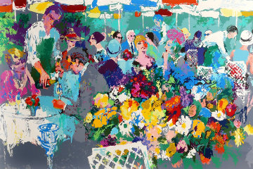Bistro Garden PP 1987 Limited Edition Print by LeRoy Neiman