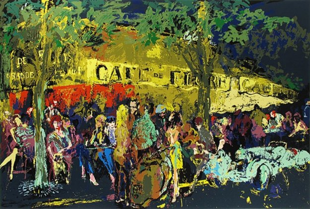 Cafe De Flore, La  Nuit 1982 Limited Edition Print by LeRoy Neiman