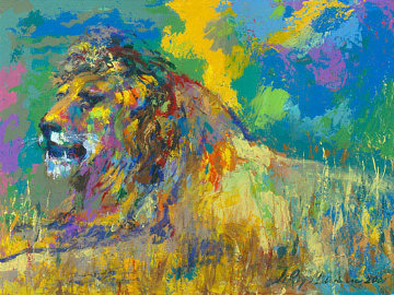 Resting Lion 2008 Limited Edition Print by LeRoy Neiman