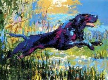 Black Labrador 1977 Limited Edition Print - LeRoy Neiman