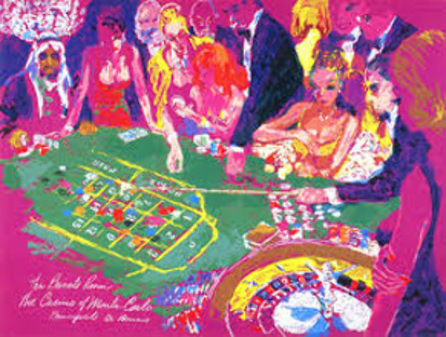 Salle Privee - Monte Carlo 1988 Limited Edition Print by LeRoy Neiman
