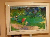 Golf Threesome 1980 Limited Edition Print by LeRoy Neiman - 2