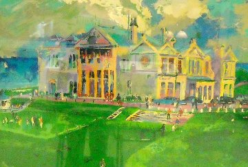 Clubhouse At Old St. Andrews 1987 Limited Edition Print by LeRoy Neiman