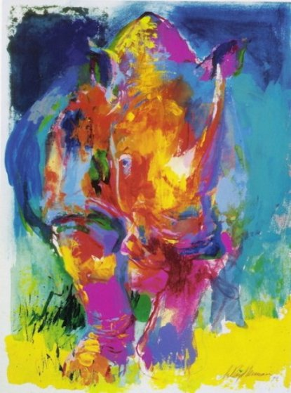 Rhino 2006 Limited Edition Print by LeRoy Neiman