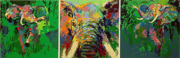 Elephant Triptych AP 2002 Limited Edition Print by LeRoy Neiman
