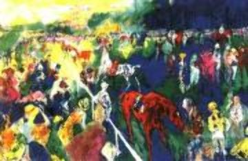 Paddock at Chantilly AP 1992 Limited Edition Print by LeRoy Neiman