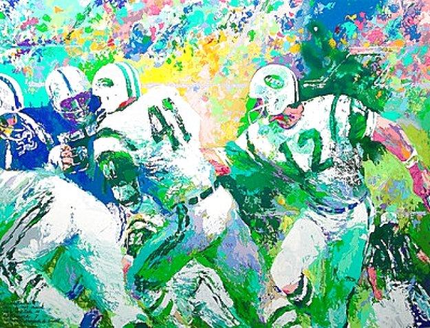 Handoff - Super Bowl III 2007 Limited Edition Print by LeRoy Neiman