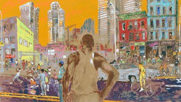 Harlem Streets 1982 New York Limited Edition Print - LeRoy Neiman