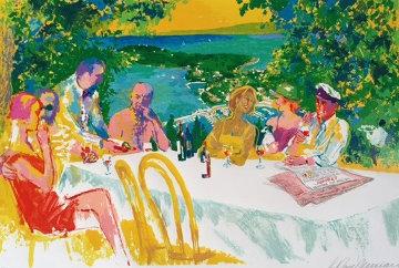 Wine Alfresco 2000 Limited Edition Print - LeRoy Neiman