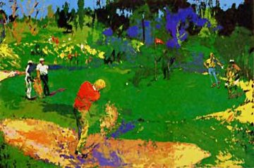 Golf Threesome 1978 Limited Edition Print - LeRoy Neiman