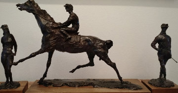 Horse Racing Suite of 3 Bronze Sculptures 1977 Sculpture - LeRoy Neiman