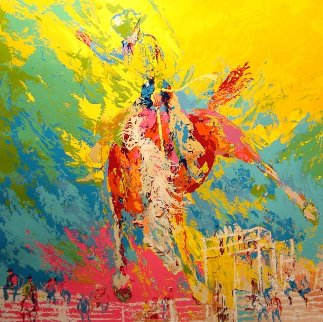 Bucking Bronco 1970 Limited Edition Print - LeRoy Neiman