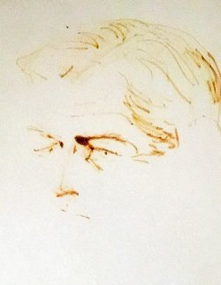 Ted Kennedy 1969 Drawing 22x26 Drawing by LeRoy Neiman