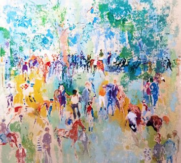 Paddock 1972 Limited Edition Print - LeRoy Neiman