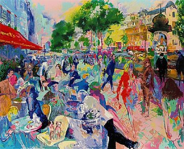 Fouquet's 1993 Limited Edition Print by LeRoy Neiman