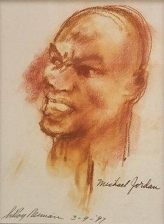 Michael Jordan Drawing 1997 13x9 Drawing - LeRoy Neiman