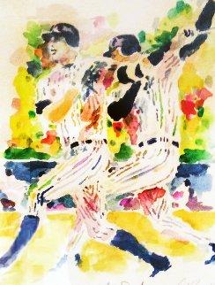 A-Rod Watercolor 2007 21x27 Watercolor - LeRoy Neiman