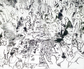 Eaux Fortes: Game of Life 1980 Limited Edition Print by LeRoy Neiman