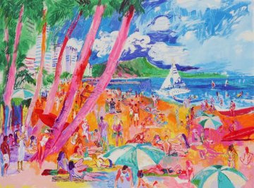 Diamond Head Hawaii 1988 Limited Edition Print - LeRoy Neiman