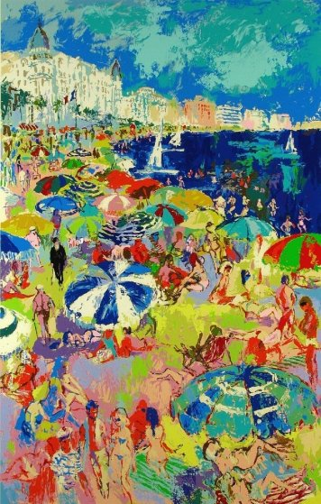 Beach At Cannes 1979 Limited Edition Print by LeRoy Neiman