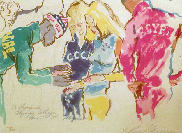 Exchanging Pins 1972  Limited Edition Print by LeRoy Neiman