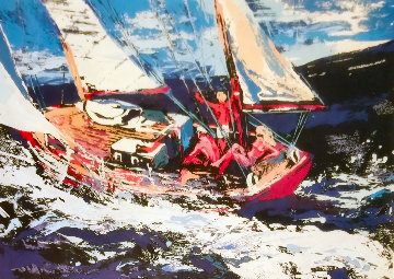 North Seas Sailing  AP Limited Edition Print - LeRoy Neiman