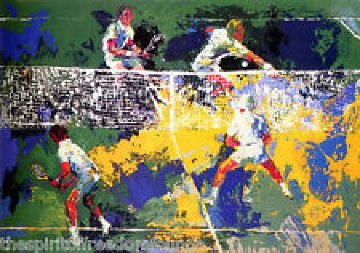 Doubles 1974 Limited Edition Print by LeRoy Neiman