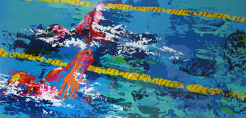 Swimmer From Olympic Suite AP 1986 Limited Edition Print by LeRoy Neiman