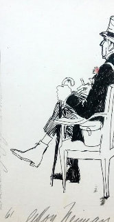 Proprietor At Long Champ Drawing 1961 20x16  Drawing - LeRoy Neiman