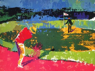Chipping on 1972 Sam Snead Limited Edition Print - LeRoy Neiman